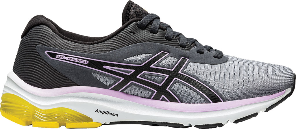 Women's ASICS GEL-Pulse 12 Running Sneaker, Sheet Rock/Graphite Grey, large, image 2