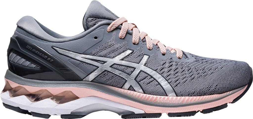 Women's ASICS GEL-Kayano 27 Running Sneaker, Sheet Rock/Pure Silver, large, image 2