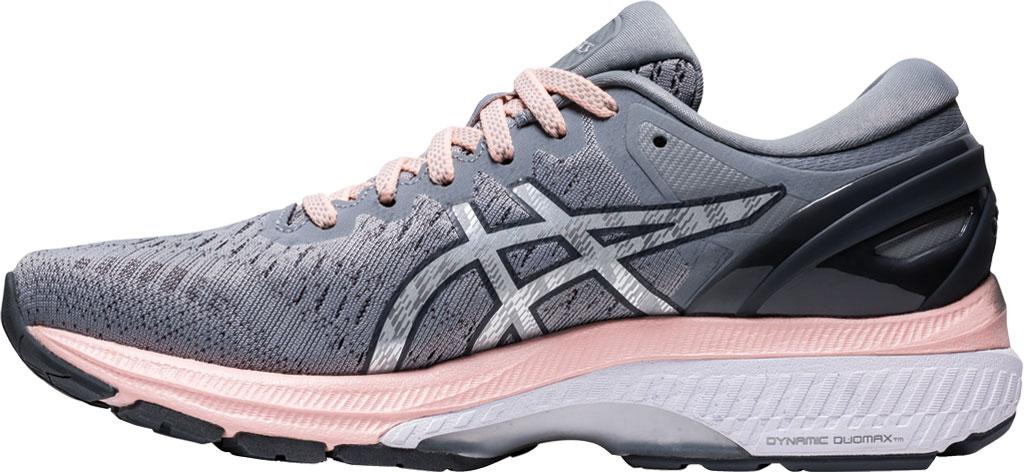 Women's ASICS GEL-Kayano 27 Running Sneaker, Sheet Rock/Pure Silver, large, image 3