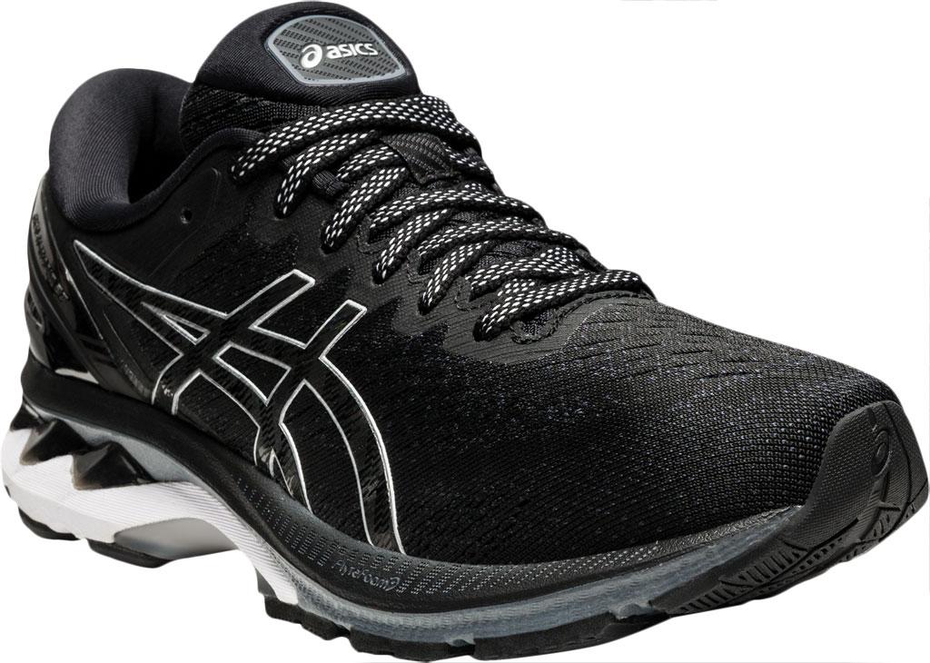 Women's ASICS GEL-Kayano 27 Running Sneaker, Black/Pure Silver, large, image 1