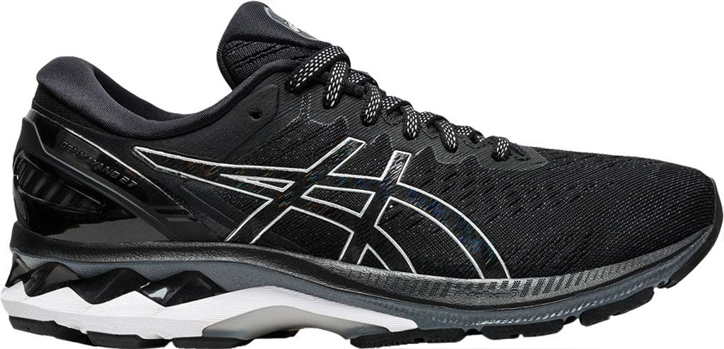 Women's ASICS GEL-Kayano 27 Running Sneaker, Black/Pure Silver, large, image 2