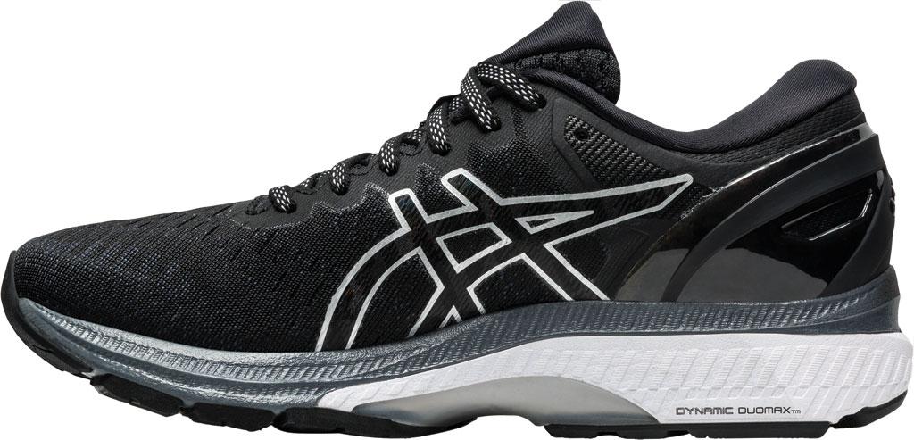 Women's ASICS GEL-Kayano 27 Running Sneaker, Black/Pure Silver, large, image 3