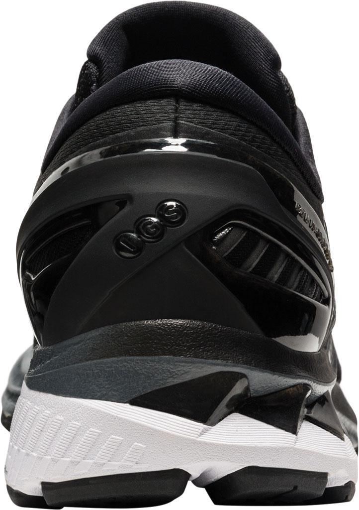 Women's ASICS GEL-Kayano 27 Running Sneaker, Black/Pure Silver, large, image 4