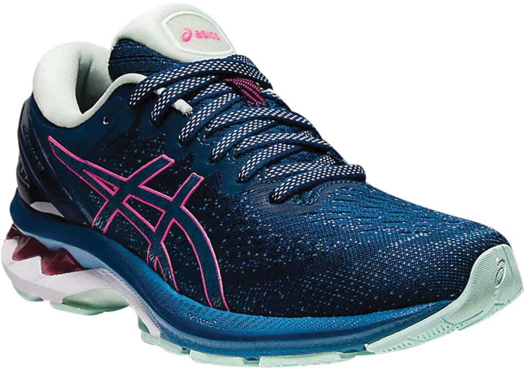 Women's ASICS GEL-Kayano 27 Running Sneaker, Mako Blue/Hot Pink, large, image 1