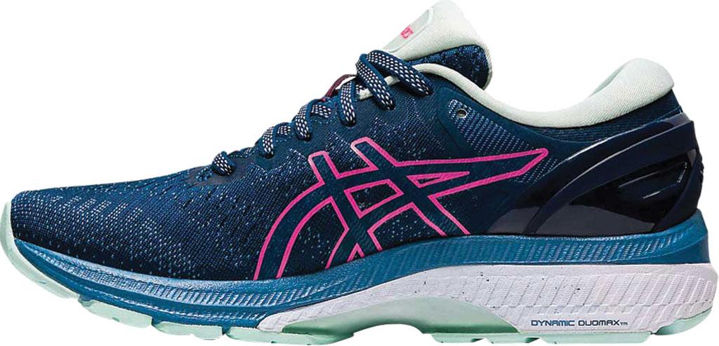 Women's ASICS GEL-Kayano 27 Running Sneaker, Mako Blue/Hot Pink, large, image 2