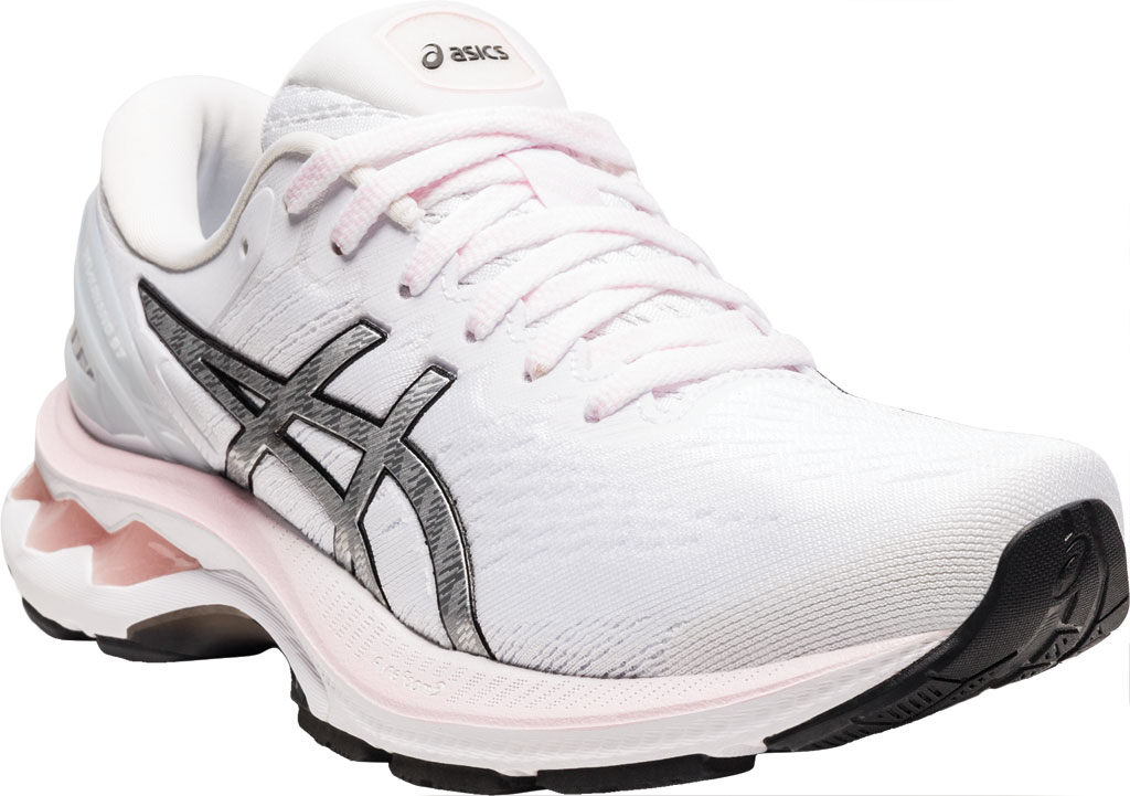 Women's ASICS GEL-Kayano 27 Running Sneaker, Pink Salt/Pure Silver, large, image 1