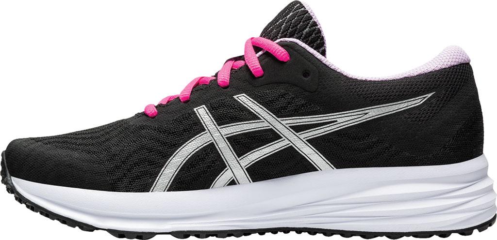 Women's ASICS Patriot 12 Running Sneaker, Black/Pure Silver, large, image 3