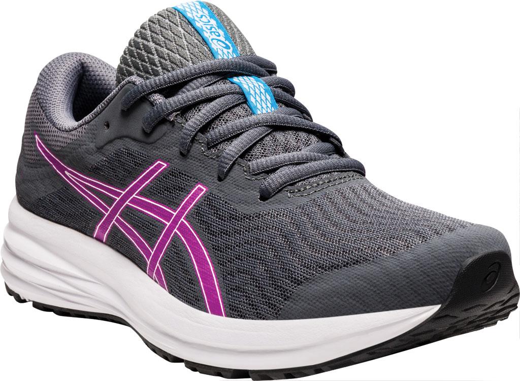 Women's ASICS Patriot 12 Running Sneaker, Carrier Grey/Digital Grape, large, image 1