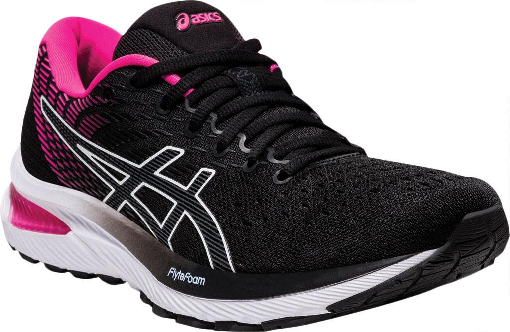 Women's ASICS GEL-Cumulus 22 Running Sneaker, Black/Pink Glo, large, image 1