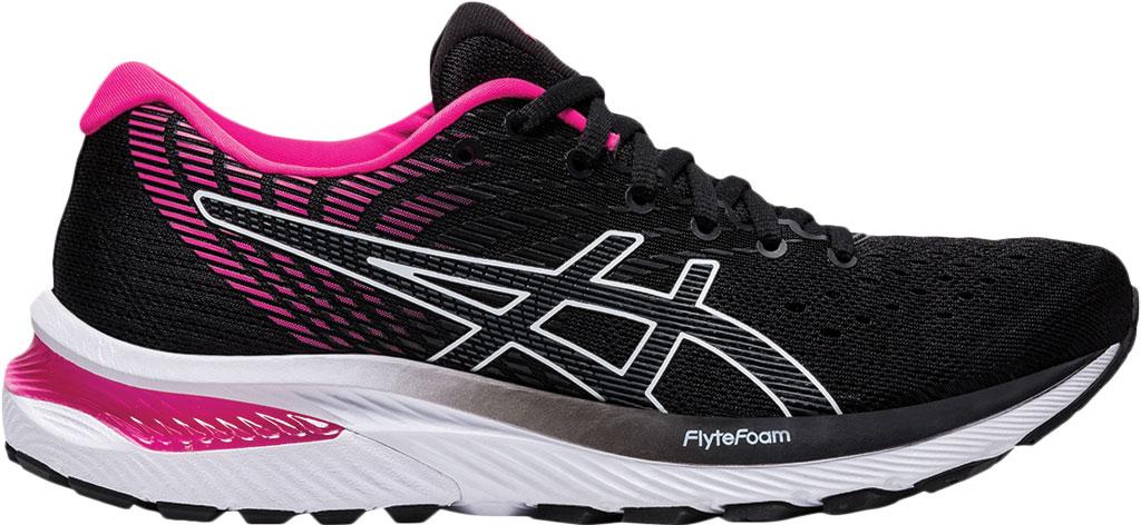 Women's ASICS GEL-Cumulus 22 Running Sneaker, Black/Pink Glo, large, image 2