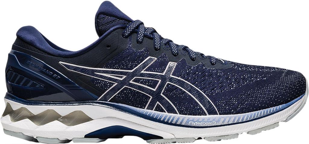 Men's ASICS GEL-Kayano 27 Running Sneaker, Peacoat/Piedmont Grey, large, image 2