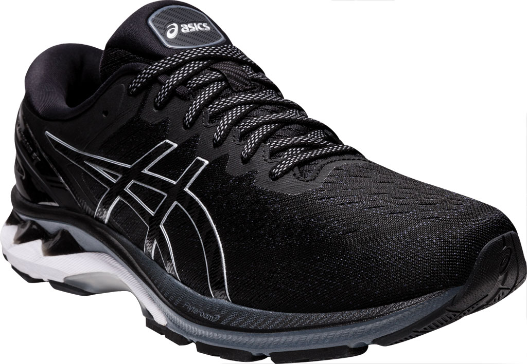 Men's ASICS GEL-Kayano 27 Running Sneaker, Black/Pure Silver, large, image 1