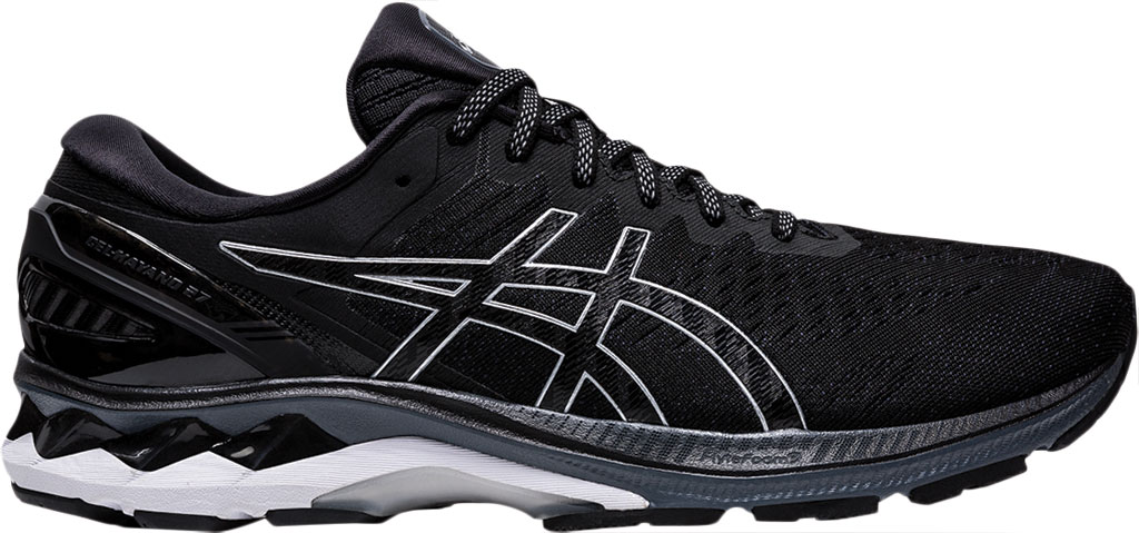 Men's ASICS GEL-Kayano 27 Running Sneaker, Black/Pure Silver, large, image 2