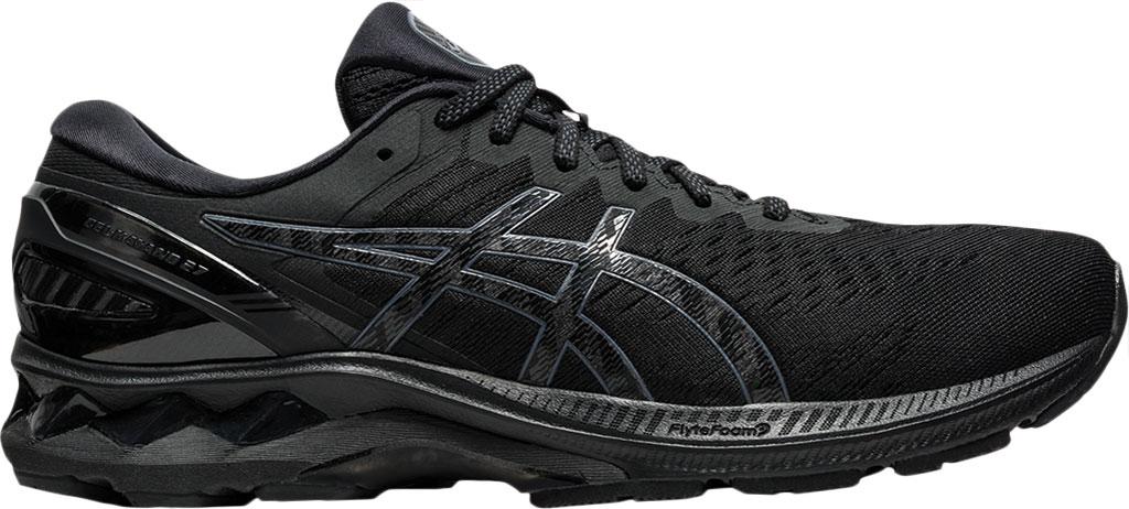 Men's ASICS GEL-Kayano 27 Running Sneaker, Black/Black, large, image 2