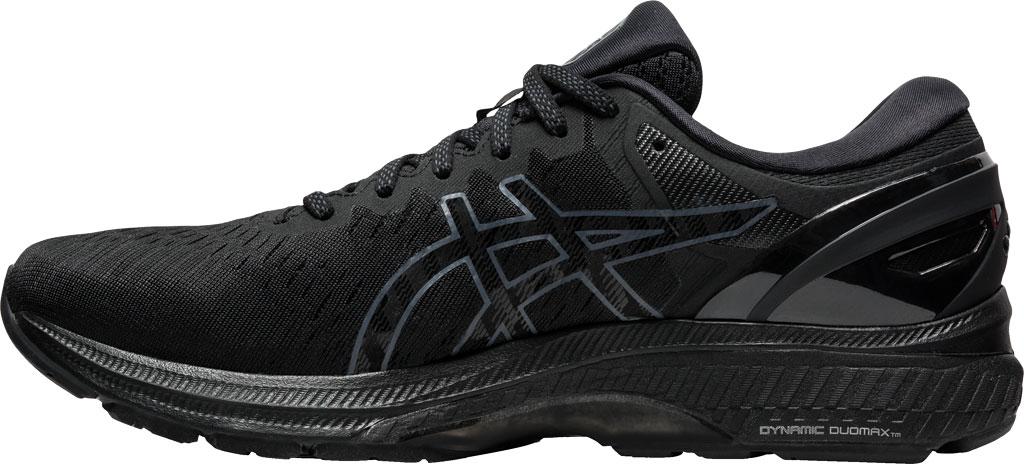 Men's ASICS GEL-Kayano 27 Running Sneaker, Black/Black, large, image 3