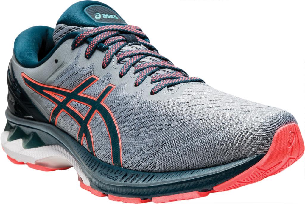 Men's ASICS GEL-Kayano 27 Running Sneaker, Sheet Rock/Magnetic Blue, large, image 1