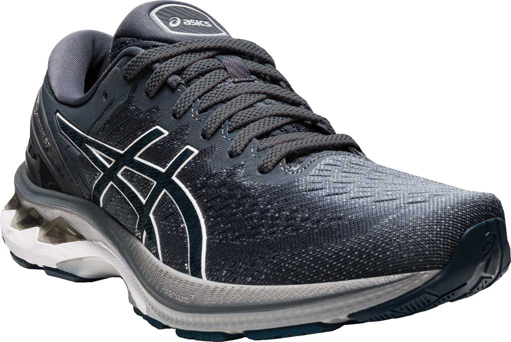 Men's ASICS GEL-Kayano 27 Running Sneaker, Carrier Grey/French Blue, large, image 1