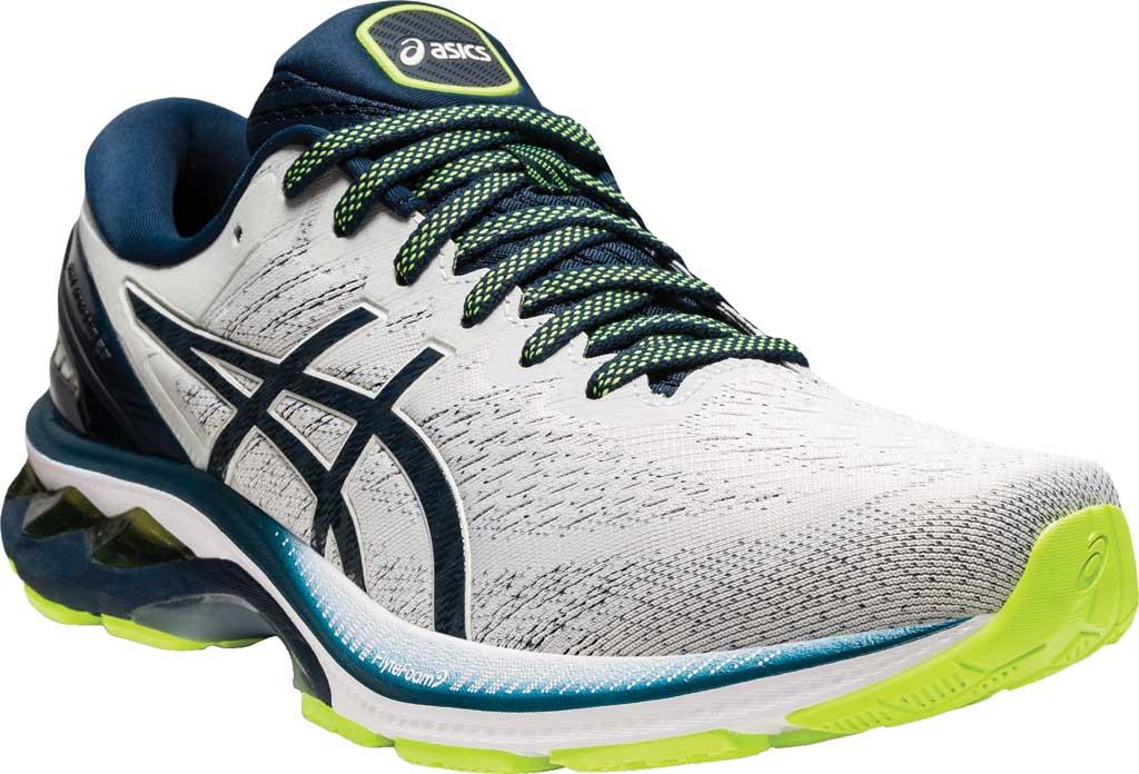 Men's ASICS GEL-Kayano 27 Running Sneaker, Glacier Grey/French Blue, large, image 1