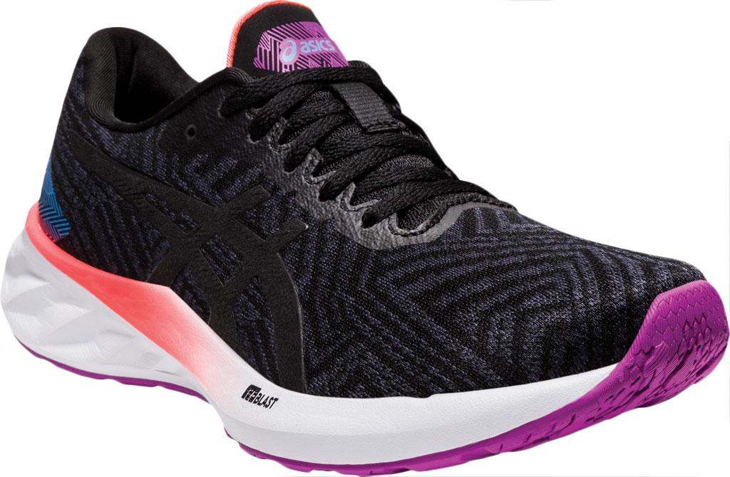 Women's ASICS Roadblast Running Sneaker, Black/Orchid (Tokyo), large, image 1