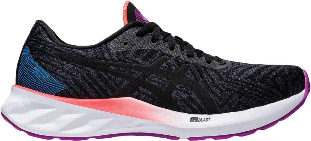 Women's ASICS Roadblast Running Sneaker, Black/Orchid (Tokyo), large, image 2