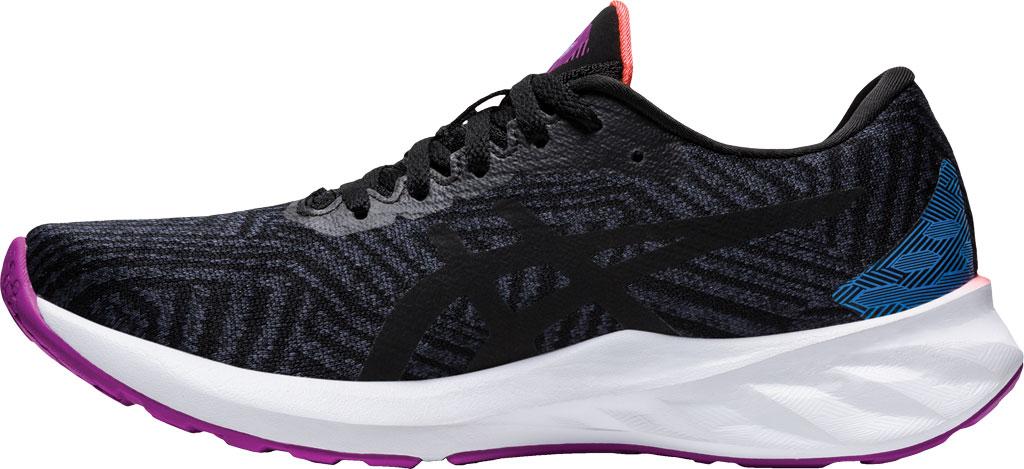 Women's ASICS Roadblast Running Sneaker, Black/Orchid (Tokyo), large, image 3