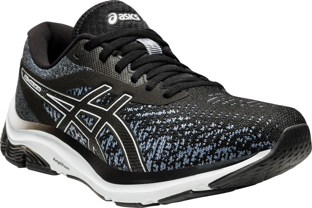 Men's ASICS GEL-Pulse 12 Running Sneaker, Black/White, large, image 1