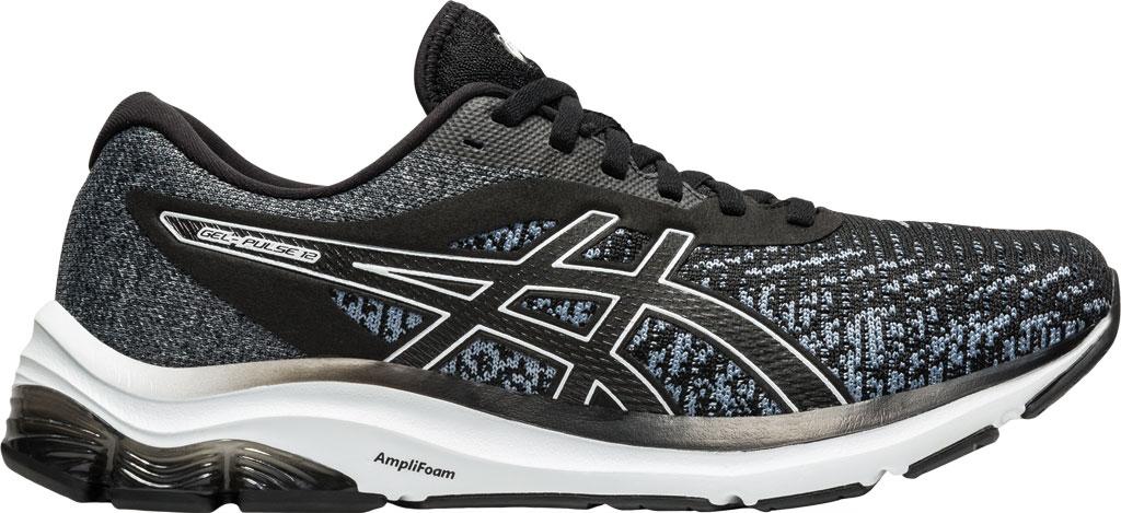 Men's ASICS GEL-Pulse 12 Running Sneaker, Black/White, large, image 2