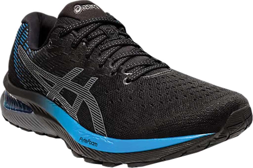 Men's ASICS GEL-Cumulus 22 Running Sneaker, Black/Directoire Blue, large, image 1