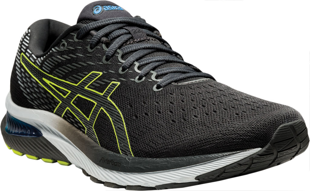 Men's ASICS GEL-Cumulus 22 Running Sneaker, Graphite Grey/Lime Zest, large, image 1