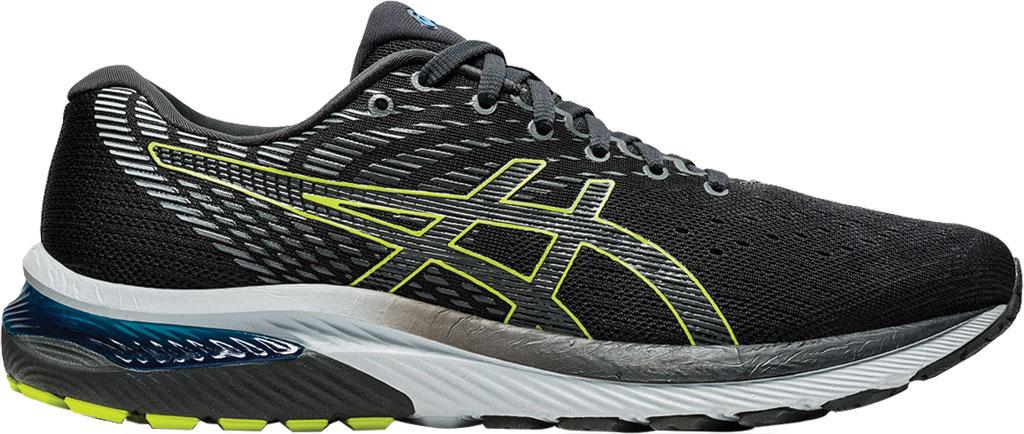 Men's ASICS GEL-Cumulus 22 Running Sneaker, Graphite Grey/Lime Zest, large, image 2
