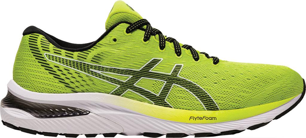 Men's ASICS GEL-Cumulus 22 Running Sneaker, Lime Zest/Black, large, image 2