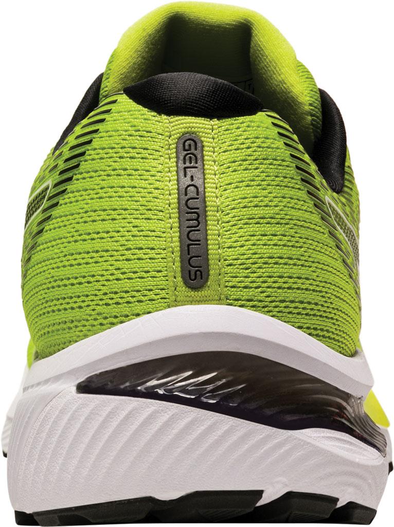 Men's ASICS GEL-Cumulus 22 Running Sneaker, Lime Zest/Black, large, image 4