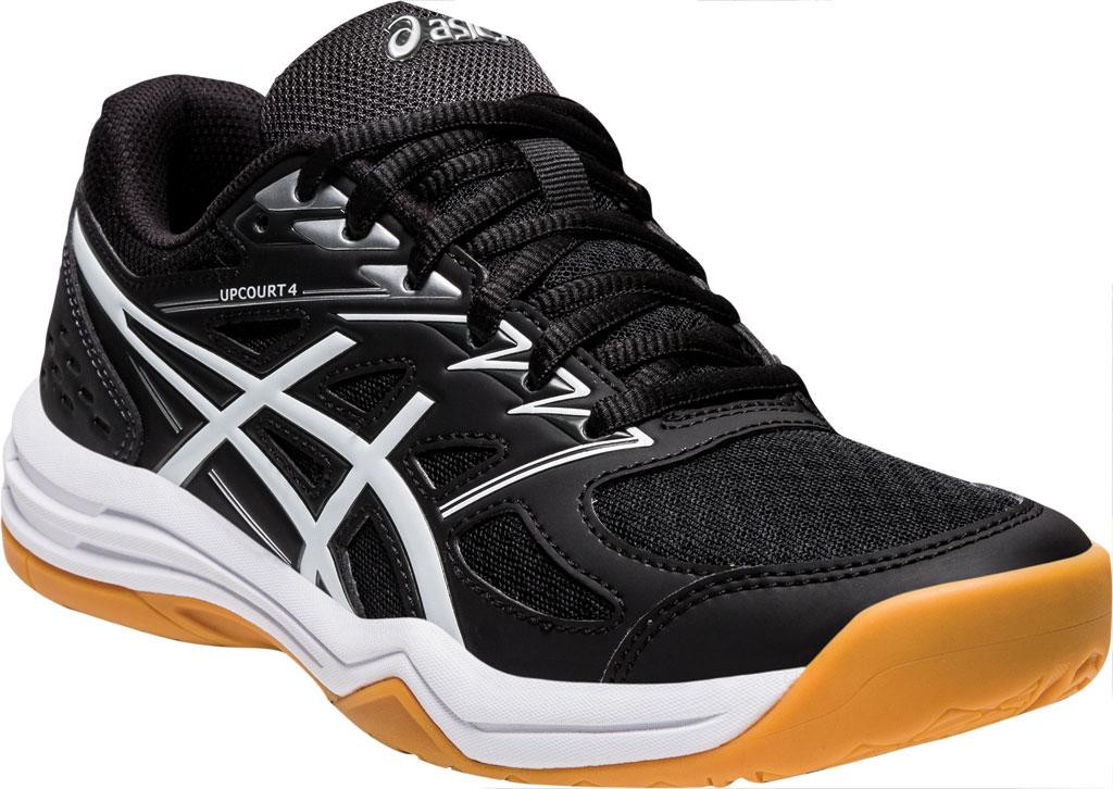 Women's ASICS Upcourt 4 Sneaker, Black/White, large, image 1
