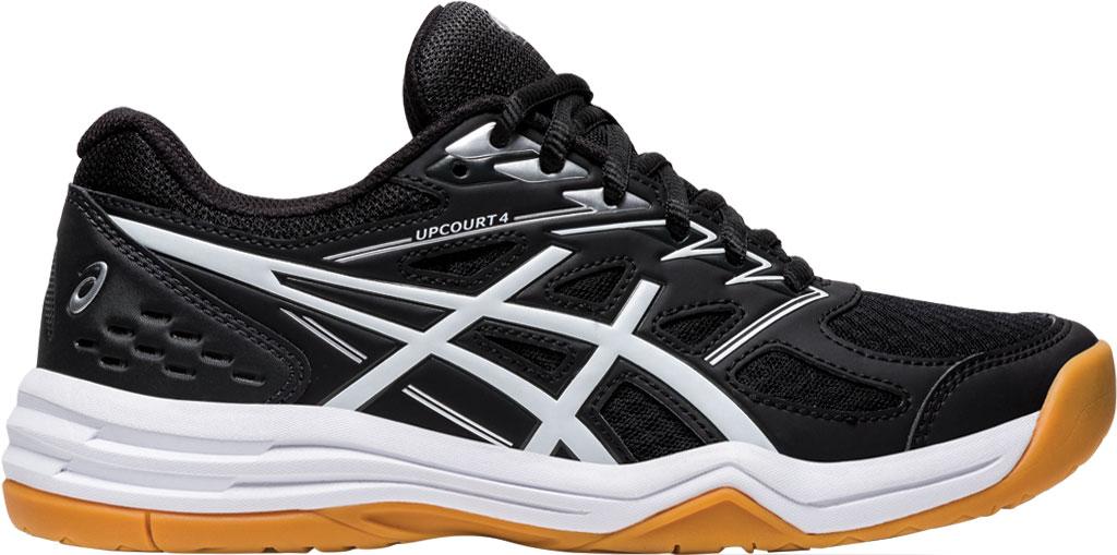 Women's ASICS Upcourt 4 Sneaker, Black/White, large, image 2
