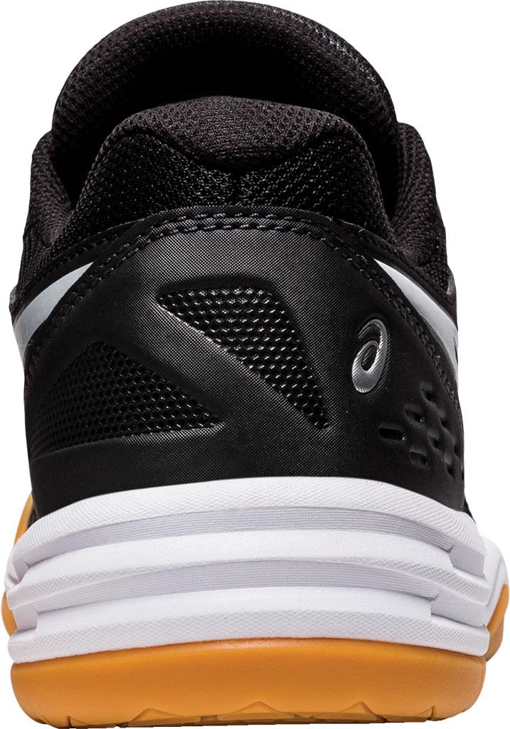 Women's ASICS Upcourt 4 Sneaker, Black/White, large, image 4
