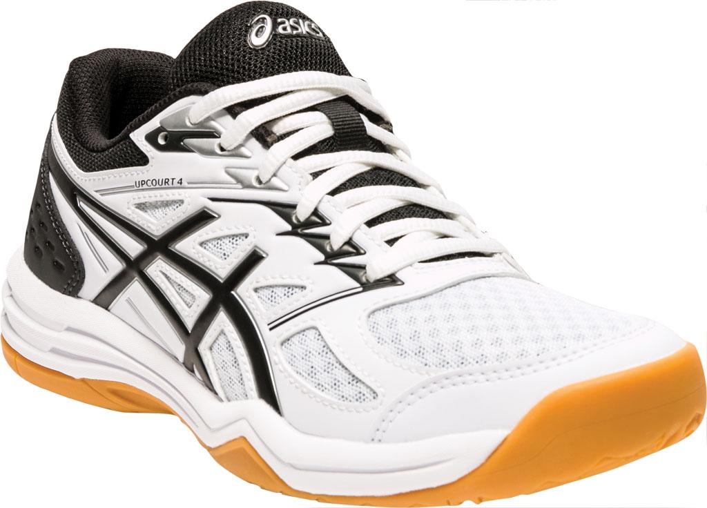 Women's ASICS Upcourt 4 Sneaker, White/Black, large, image 1