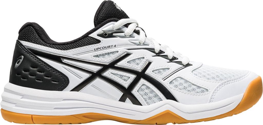 Women's ASICS Upcourt 4 Sneaker, White/Black, large, image 2