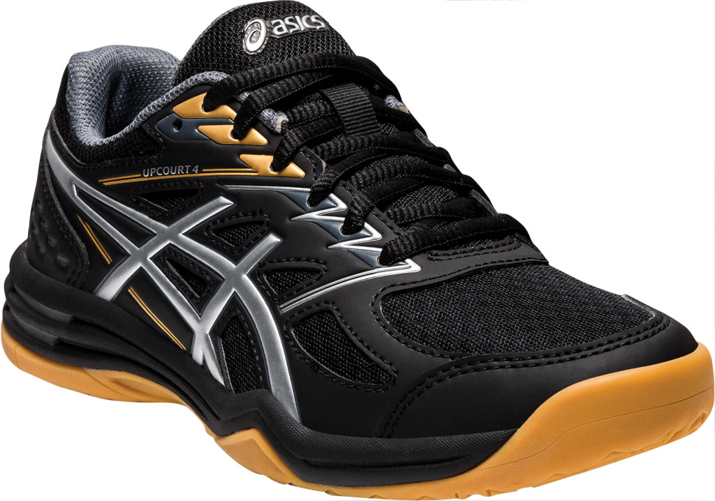 Children's ASICS Upcourt 4 GS Sneaker, Black/Pure Silver, large, image 1