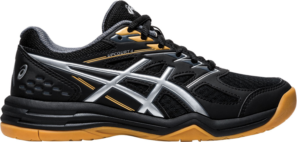 Children's ASICS Upcourt 4 GS Sneaker, Black/Pure Silver, large, image 2