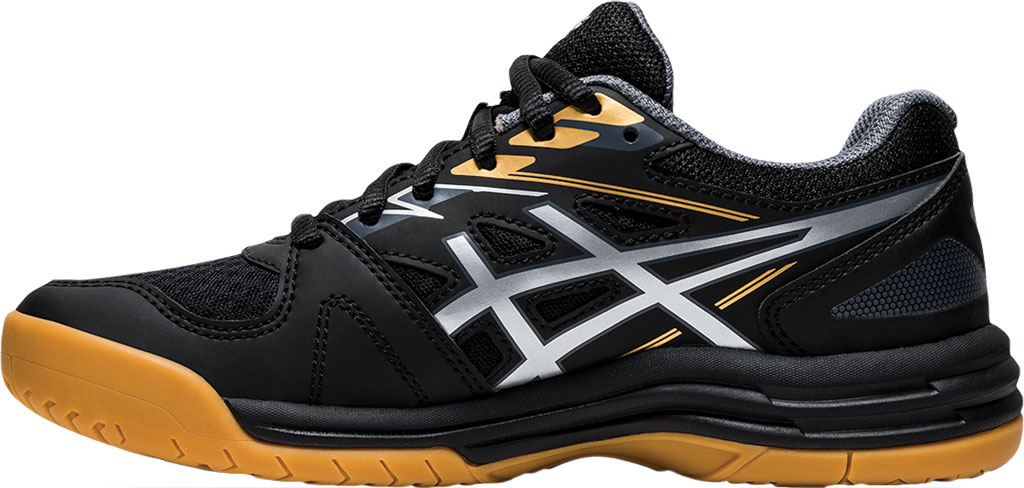 Children's ASICS Upcourt 4 GS Sneaker, Black/Pure Silver, large, image 3