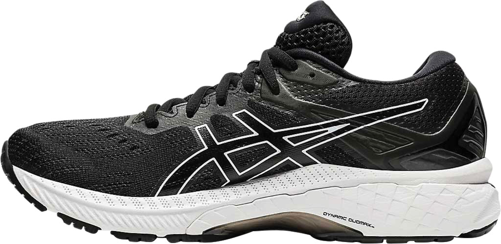Women's ASICS GT-2000 9 Running Sneaker, Black/White, large, image 3
