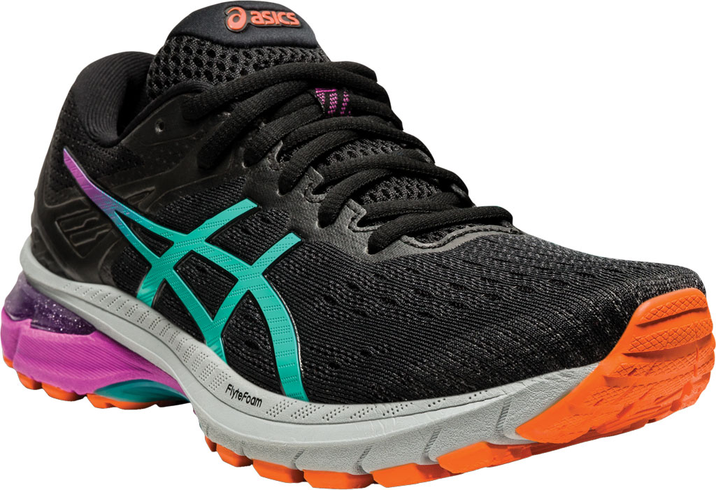 Women's ASICS GT-2000 9 Running Sneaker, Black/Baltic Jewel, large, image 1