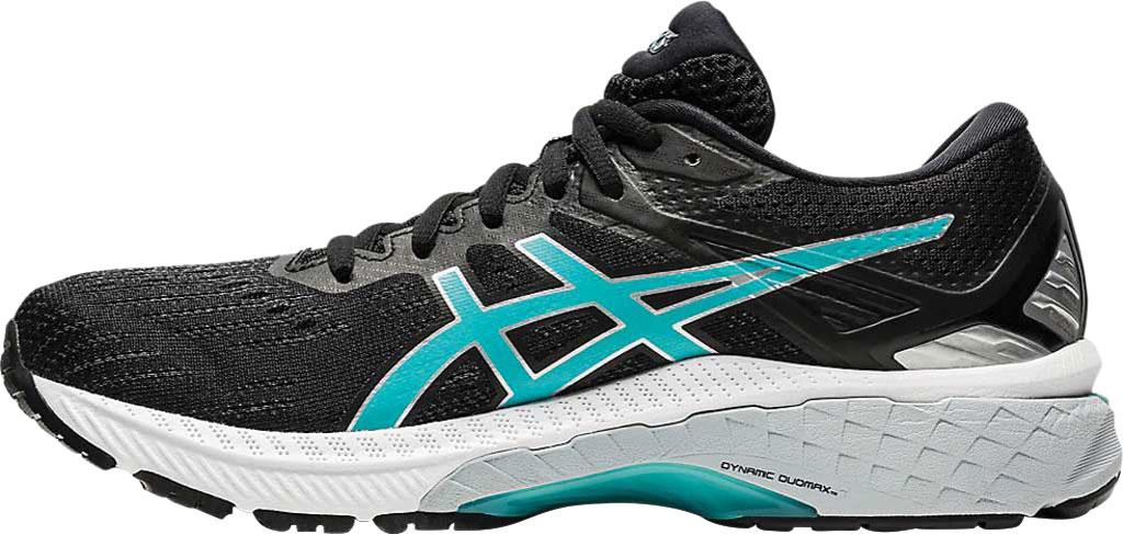 Women's ASICS GT-2000 9 Running Sneaker, Black/Techno Cyan, large, image 3