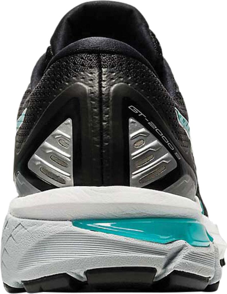 Women's ASICS GT-2000 9 Running Sneaker, Black/Techno Cyan, large, image 4