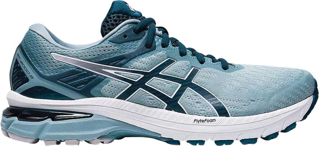 Women's ASICS GT-2000 9 Running Sneaker, Light Steel/Magnetic Blue, large, image 2
