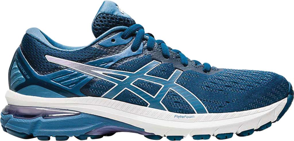Women's ASICS GT-2000 9 Running Sneaker, Mako Blue/Grey Floss, large, image 2