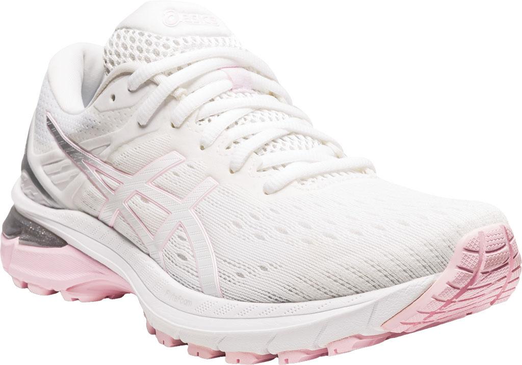 Women's ASICS GT-2000 9 Running Sneaker, White/Pink Salt, large, image 1
