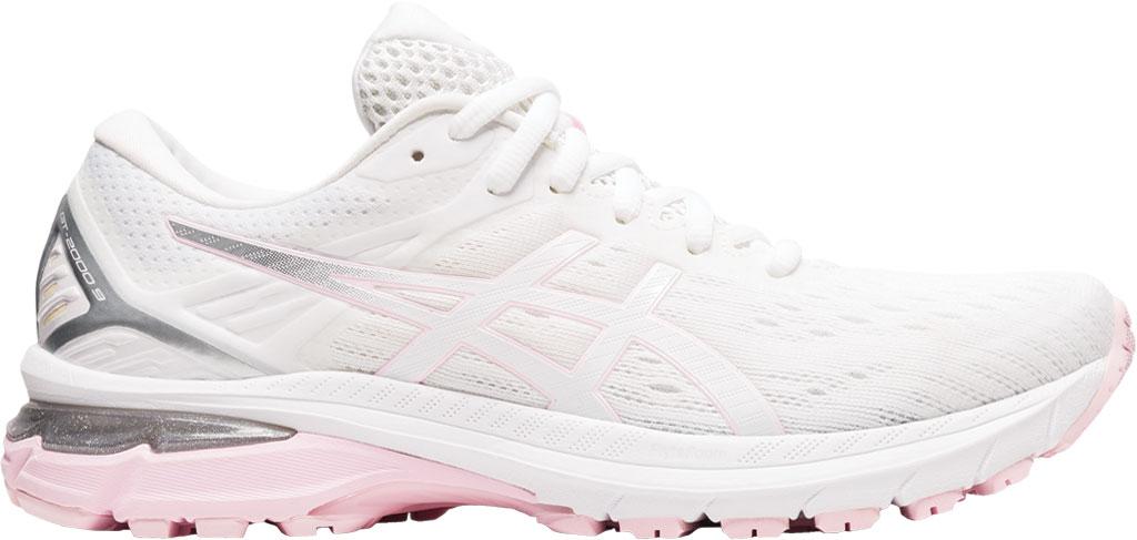 Women's ASICS GT-2000 9 Running Sneaker, White/Pink Salt, large, image 2