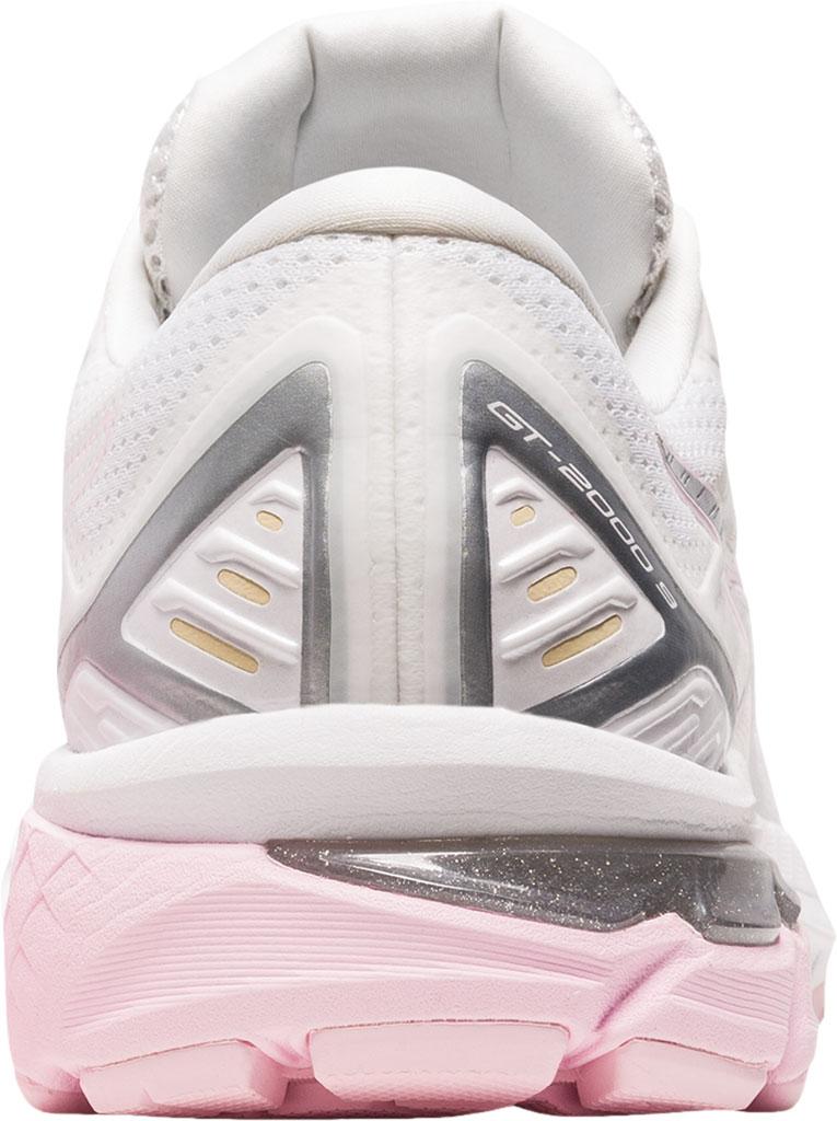 Women's ASICS GT-2000 9 Running Sneaker, White/Pink Salt, large, image 4