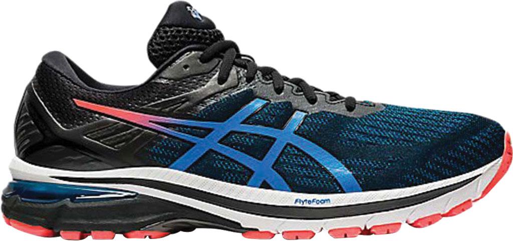 Men's ASICS GT-2000 9 Running Sneaker, Black/Directoire Blue, large, image 2